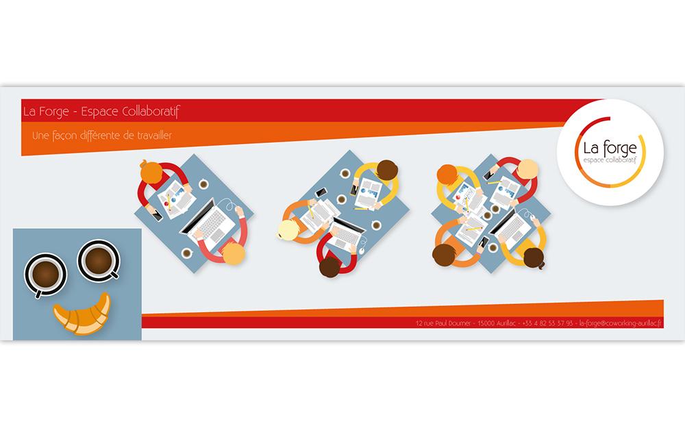 Bandeau Facebook graphique pour la Forge à Aurillac
