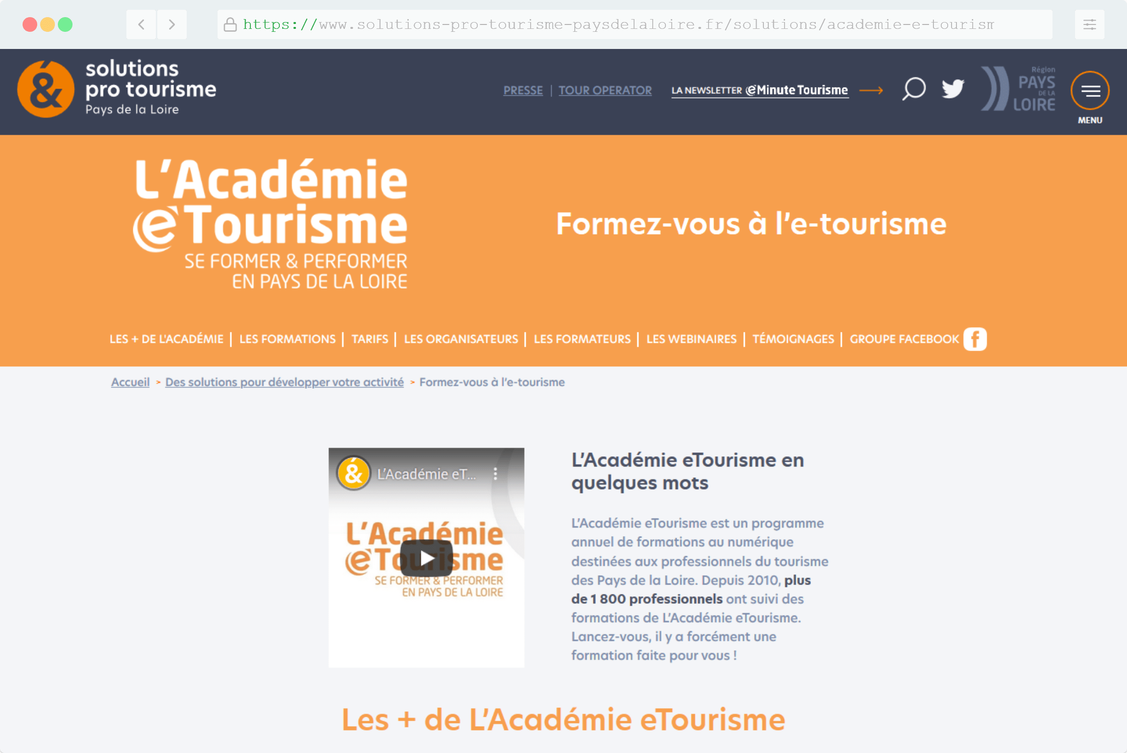 "Mise à jour des informations à travers l""API de Tourinsfort"